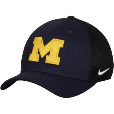 ユニセックス スポーツリーグ アメリカ大学スポーツ Michigan Wolverines Nike AeroBill Classic 99 Mesh Back Flex Hat - Navy/Black