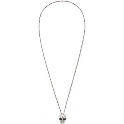 アレキサンダー マックイーン ALEXANDER MCQUEEN メンズ ネックレス ジュエリー・アクセサリー Skull Pendant Necklace Silver