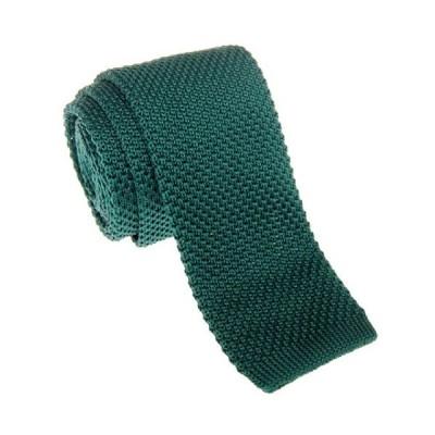"Retreez Vintage Smart Casual Men's 2"" Skinny Knit Tie - Dark Green"