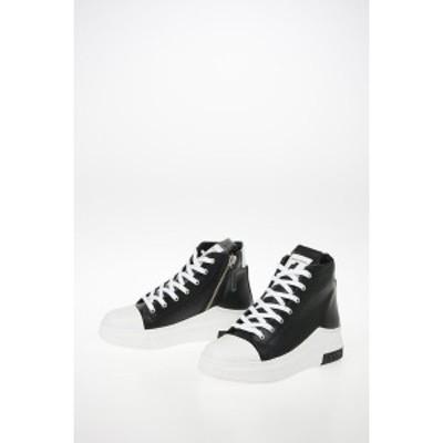 CINZIA ARAIA/チンツィアアライア Black レディース Leather ARAIA 74 High Top Sneakers dk