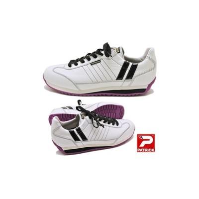 PATRICK MARATHON-L パトリック スニーカー 靴 マラソン レザー WBP ホワイトブラックパープル メンズ