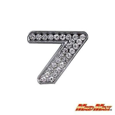 ダイヤ文字エンブレム シルバー 7 MAD MAX(マッドマックス)