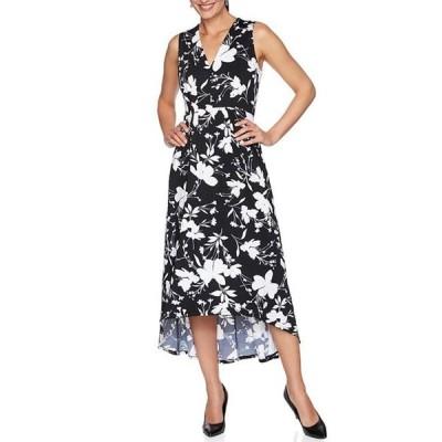 ルビーアールディー レディース ワンピース トップス Wild Floral V-Neck Sleeveless Hi-Low Dress