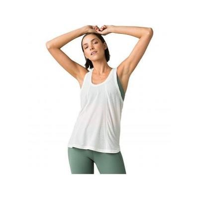 Prana プラナ レディース 女性用 ファッション アクティブシャツ Justine Tank Top - Soft White