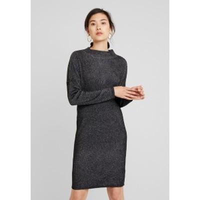 エスプリ レディース ワンピース トップス DRESS - Shift dress - black black