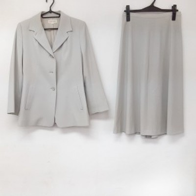 ヨシエイナバ YOSHIE INABA スカートスーツ レディース 美品 - ライトグレー【中古】20210323