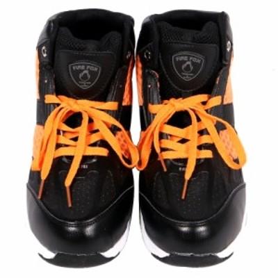 ファイアーフォックス セーフティースニーカー ハイカット 樹脂製先芯 28.0cm オレンジ 軽量 作業靴 HZ-340