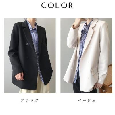 オーバーサイズ テーラードジャケット レディース 2020 秋 新作 韓国 韓国ファッション スーツ ジャケット