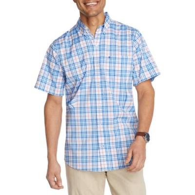 アイゾッド メンズ シャツ トップス Advantage Performance Plaid Button Down Short Sleeve Shirt