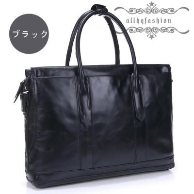 本革 ビジネスバッグ レザー ビジネス メンズ バッグ 軽い 軽量 使い勝手 ブラック 大容量 就活 鞄 トートバッグ  ショルダー