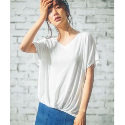 GeeRA / フロントタックドレープトップス WOMEN トップス > Tシャツ/カットソー