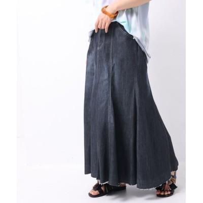 osharewalker / 『ひんやり冷感マーメイドデニムスカート』 WOMEN スカート > デニムスカート