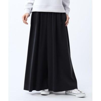 UNTITLED/アンタイトル 「L」【洗える・WEB限定】フィブリルサテンスカーチョパンツ ブラック(819) 48(6L)