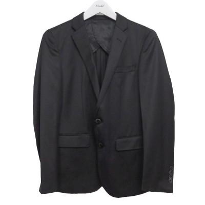 nano universe シルク混ノッチドラペル2Bジャケット ブラック サイズ:44 (池袋店) 200819