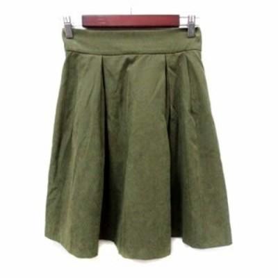 【中古】トランテアン ソン ドゥ モード 31 Sons de mode フレアスカート ひざ丈 36 緑 カーキ /YI レディース