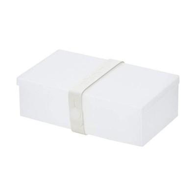 ウームボックス 弁当箱 透明ボックス/ホワイトストラップ No.01 01-TRWH