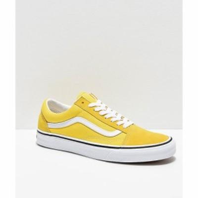 ヴァンズ VANS レディース スケートボード シューズ・靴 Vans Old Skool Vibrant Yellow and White Skate Shoes Yellow