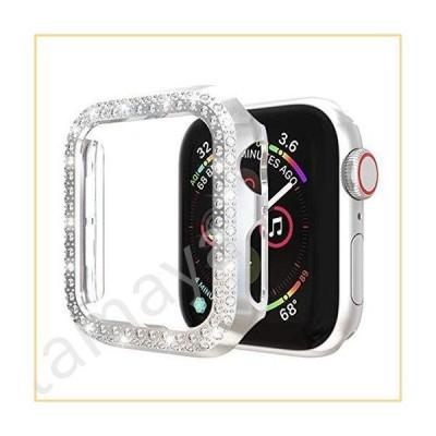 Ayigo Apple Watchケース38mm 42mm 2列ダイヤモンドPCメッキバンパー キラキラクリスタルダイヤモンド 輝く輝く