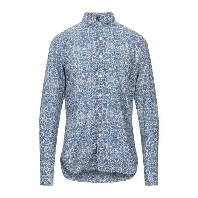 DOPPIAA シャツ ブルーグレー 42 コットン 100% シャツ