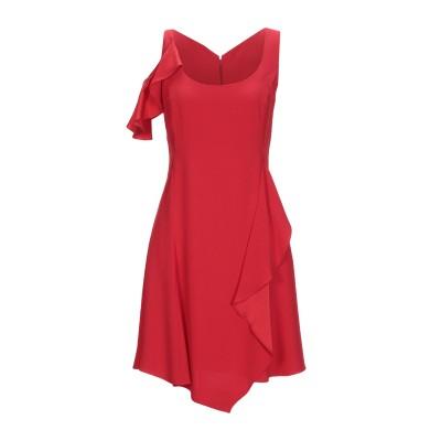 VERSACE ミニワンピース&ドレス レッド 38 アセテート 71% / レーヨン 29% ミニワンピース&ドレス