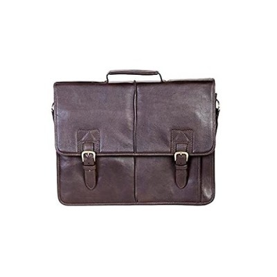 Scully Men's Leather Camden Briefcase, Chocolate