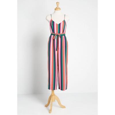 ビービーダコタ BB Dakota レディース オールインワン ジャンプスーツ ワンピース・ドレス with flying colors cropped jumpsuit multi stripe
