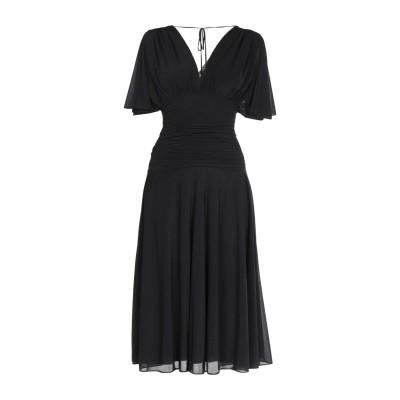 ダイアンフォンファステンバーグ DIANE VON FURSTENBERG 7分丈ワンピース・ドレス ブラック XS ポリエステル 100% 7分丈