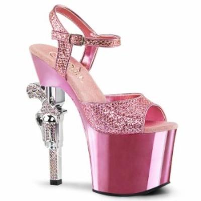 取寄 送料無料 PLEASER プリーザー サンダル 18cmヒール 大きいサイズ 靴 イベント セクシー サンタ 女装 パーティ- クリスマス コスプレ