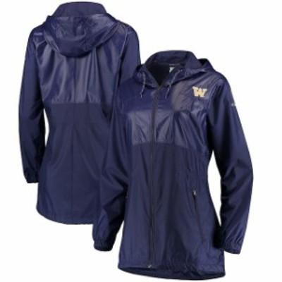 Columbia コロンビア スポーツ用品  Columbia Washington Huskies Womens Purple Flashback Long Full-Zip Windbreaker Jacket