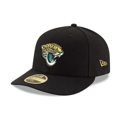 ユニセックス スポーツリーグ フットボール Jacksonville Jaguars New Era Omaha Low Profile 59FIFTY Structured Hat - Black 帽子