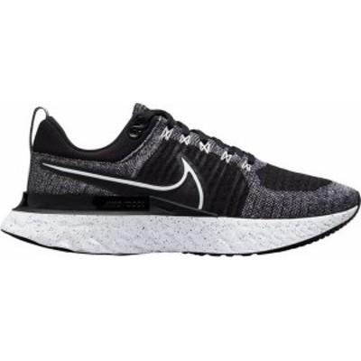 ナイキ メンズ スニーカー シューズ Nike Men's React Infinity Run Flyknit 2 Running Shoes Black/White/White