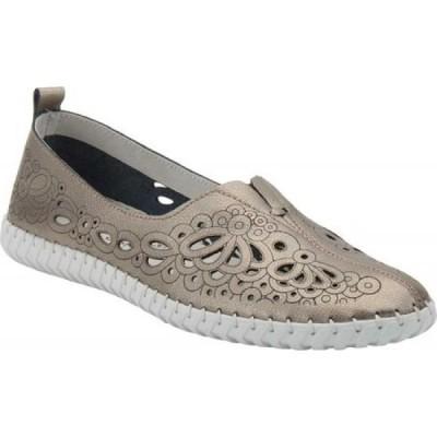 スプリングステップ Spring Step レディース スリッポン・フラット シューズ・靴 Mirtha Flat Pewter Leather
