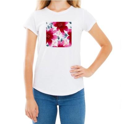 ラブリー フラワー 花柄 Tシャツ 半袖 カワイイ オシャレ ガールズ 新ブランド フェアリースター