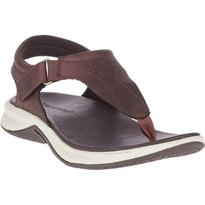 メレル サンダル レディース シューズ Merrell Women's Tideriser Luna T-Strap Leather Sandal Chocolate