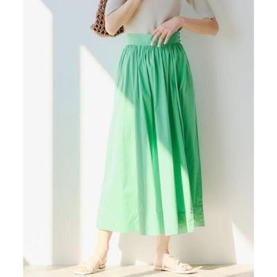 スカート ◆FFC コットン N タイプライター ギャザー スカート