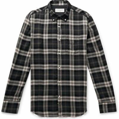 オフィシン ジェネラーレ OFFICINE GENERALE Paris 6e メンズ シャツ トップス Checked Shirt Steel grey