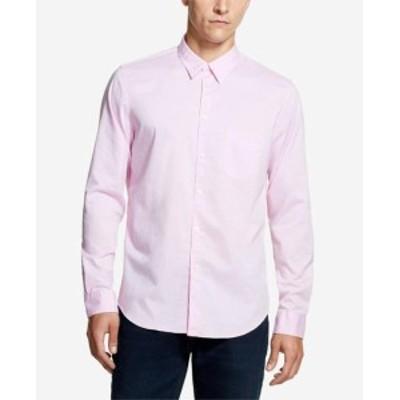 DKNY ダナキャランニューヨーク ファッション アウター DKNY NEW Mist Pink Mens Size Large L Twill Pocket Button Down Shirt
