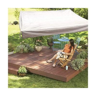 Floating Sun Shade Sail, 10'x 10' Monterey Square Rectangle Shape 185GSM UV Block Material for Outdoor Patio Porch Pergola, Sun Solar Sail S