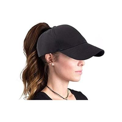 OVOY Solid Ponytail Hats Baseball Cotton Messy Bun Cap Women (Adjustable, B