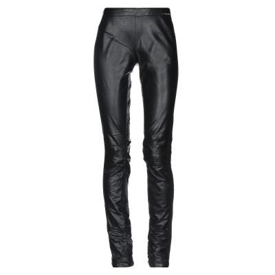 ツインセット シモーナ バルビエリ TWINSET パンツ ブラック M ポリウレタン 100% / レーヨン / ナイロン / ポリウレタン パンツ