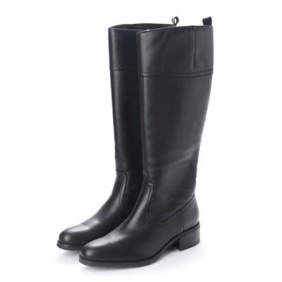 ブーツ 【EVOL】防水 4cm太ヒールロングブーツ IL8020