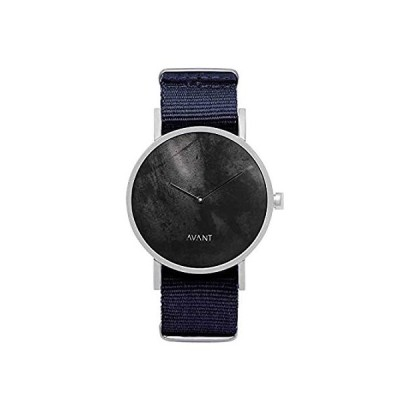 特別価格South Lane Stainless Steel Swiss-Quartz Watch with Leather Calfskin Strap, 並行輸入品