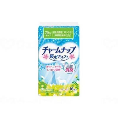 ユニ・チャームTCN吸水さらフィナプキンサイズ長時間快適用16枚 袋