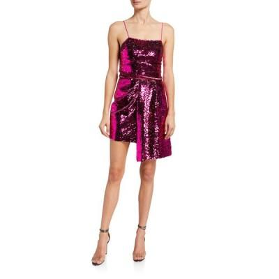 デレクラムテンクロスバイ レディース ワンピース トップス Lani Reversible Sequined Cami Dress