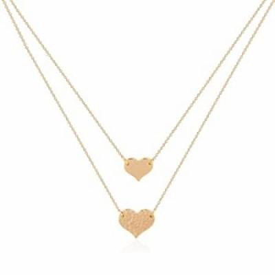 VACRONA Heart Pendant Neckalce 18K Gold Filled Layered Detangler Heart Necklace Layered Necklace Spacer Gold Dainty Tiny Handmad