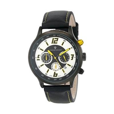 Christian Van Sant Men's CV3120 Speedway Analog Display Quartz Black Watch 並行輸入品