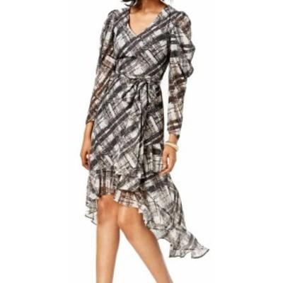 taylor テイラー ファッション ドレス Taylor NEW Black Womens Size 10 High-Low Printed V-Neck Sheath Dress