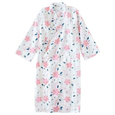 YKZX 浴衣 レディース 寝巻きレディース パジャマ 浴衣 家着 ルームウェア 風呂上り 七分袖 母の日 プレゼント 寝巻きレディースガー