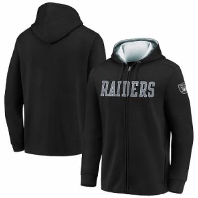"""ファナティックス メンズ パーカー """"Las Vegas Raiders"""" Fanatics Branded Team Block Full-Zip Hoodie - Black"""
