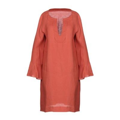 SATÌNE ミニワンピース&ドレス オレンジ 42 麻 100% ミニワンピース&ドレス